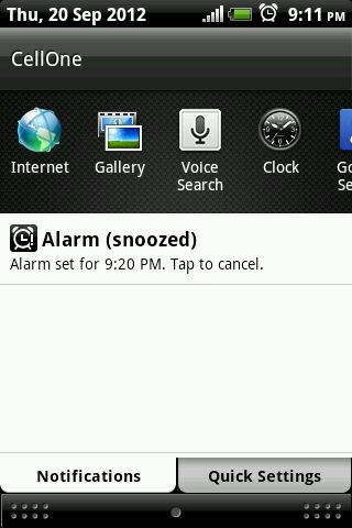 Android Status Notification Detail