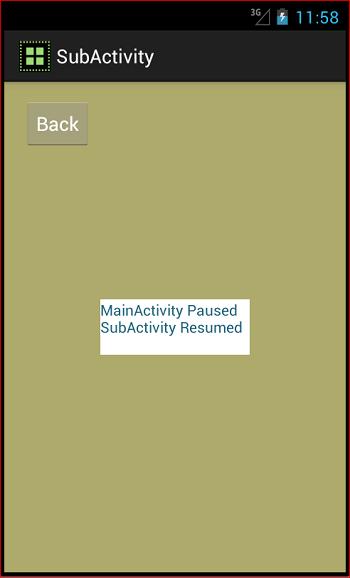 Sub Activity