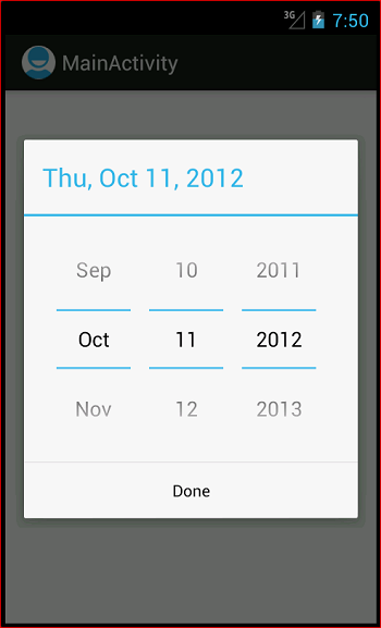 Android DatePicker - Javapapers