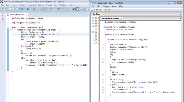 JD Decompiled Java Class