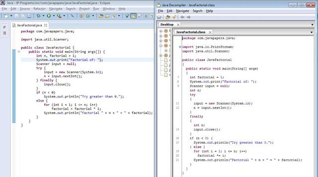 JD Decompiled Java Class