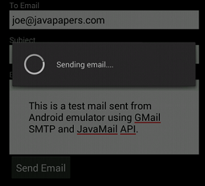 Android Email App with GMail SMTP using JavaMail - Javapapers