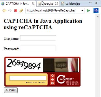 reCAPTCHA Java