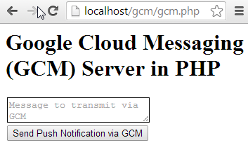GCM-Server Application