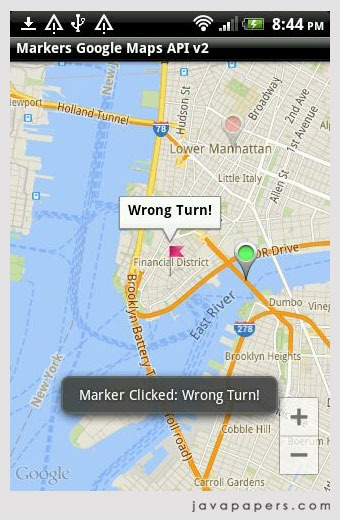 Android Marker Click Event