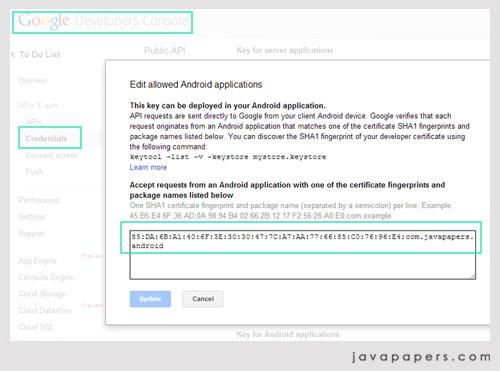 Google-Android-API-Key