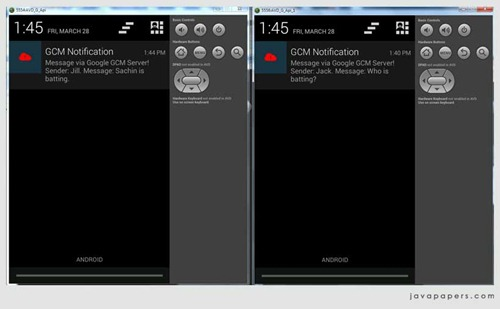 Android-Google-GCM-Device-To-Device-Messages