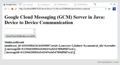 Google-GCM-Multicast-message-sent