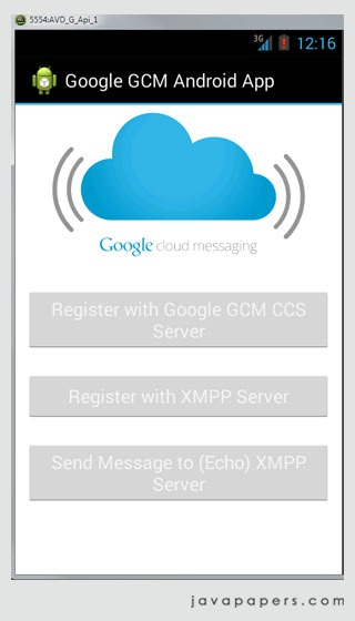 Google GCM XMPP Client