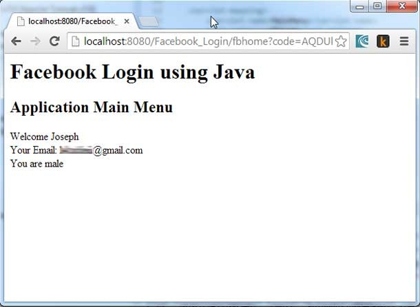 Java Facebook Login with OAuth Authentication - Javapapers