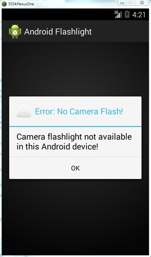 Flashlight-Not-Available
