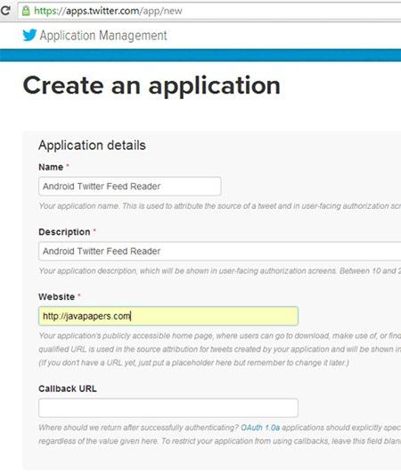 Create-Twitter-Application