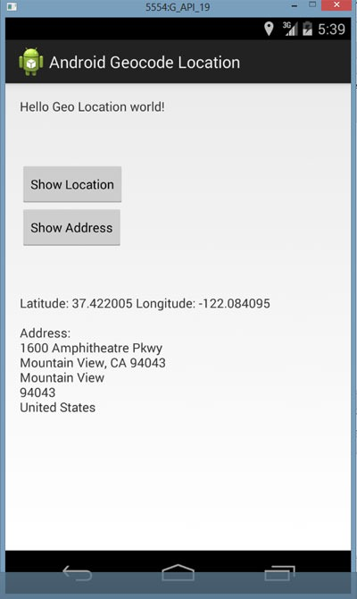 Android-Geocode-Location-Address