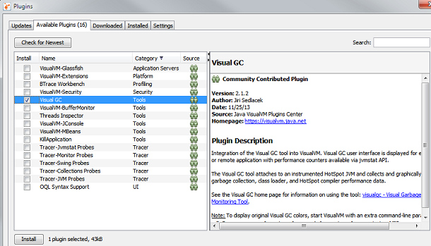 Visual GC Plugin