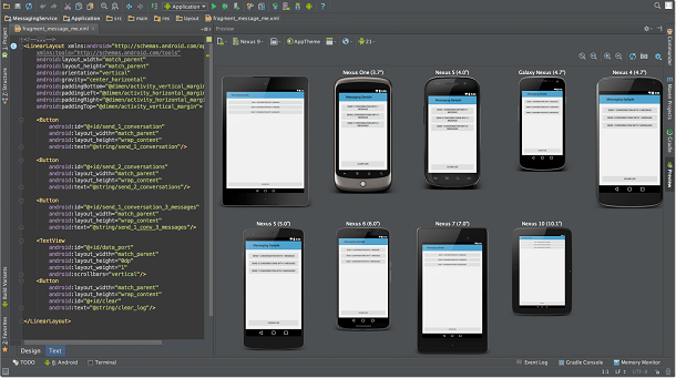 Android Studio Multi-Screen Preview