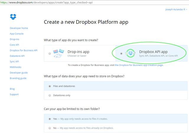 dropbox api java upload file