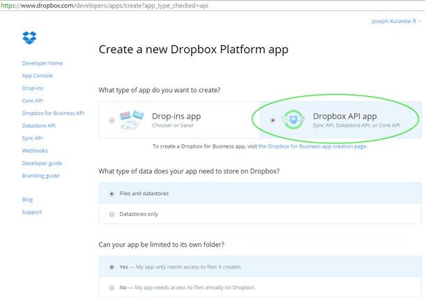 Dropbox-API-app