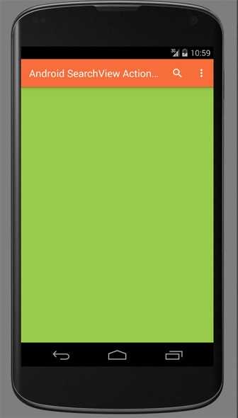 Android-SearchView-Action-Bar