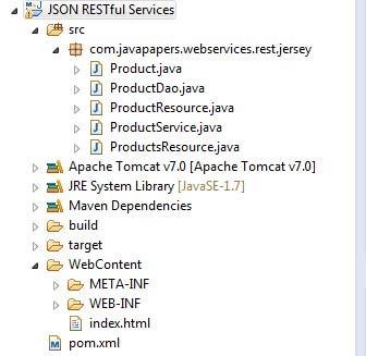 JSON-Web-Service-Project-Structure