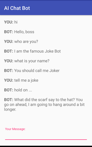 Android AI Chatbot Powered by IBM Watson - Javapapers