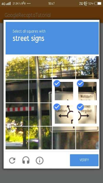 Android ReCAPTCHA Google API Integration - Javapapers